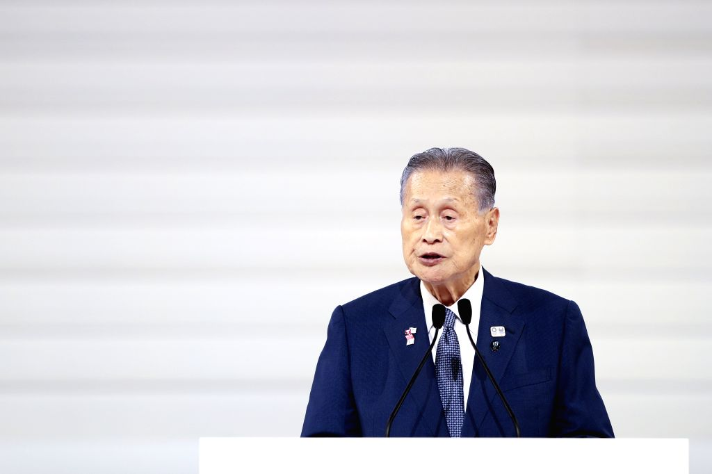 "TOKYO, Aug. 25, 2019 - Yoshiro Mori, chief of the organizing committee of the 2020 Tokyo Olympics and Paralympics,  gives a speech during the ""One Year to Go"" ceremony held to celebrate the ..."