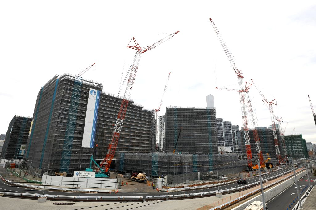 TOKYO, Feb. 12, 2019 - The athletes' village of the Tokyo 2020 Olympic Games is under construction in Tokyo, Japan, on Feb. 12, 2019.