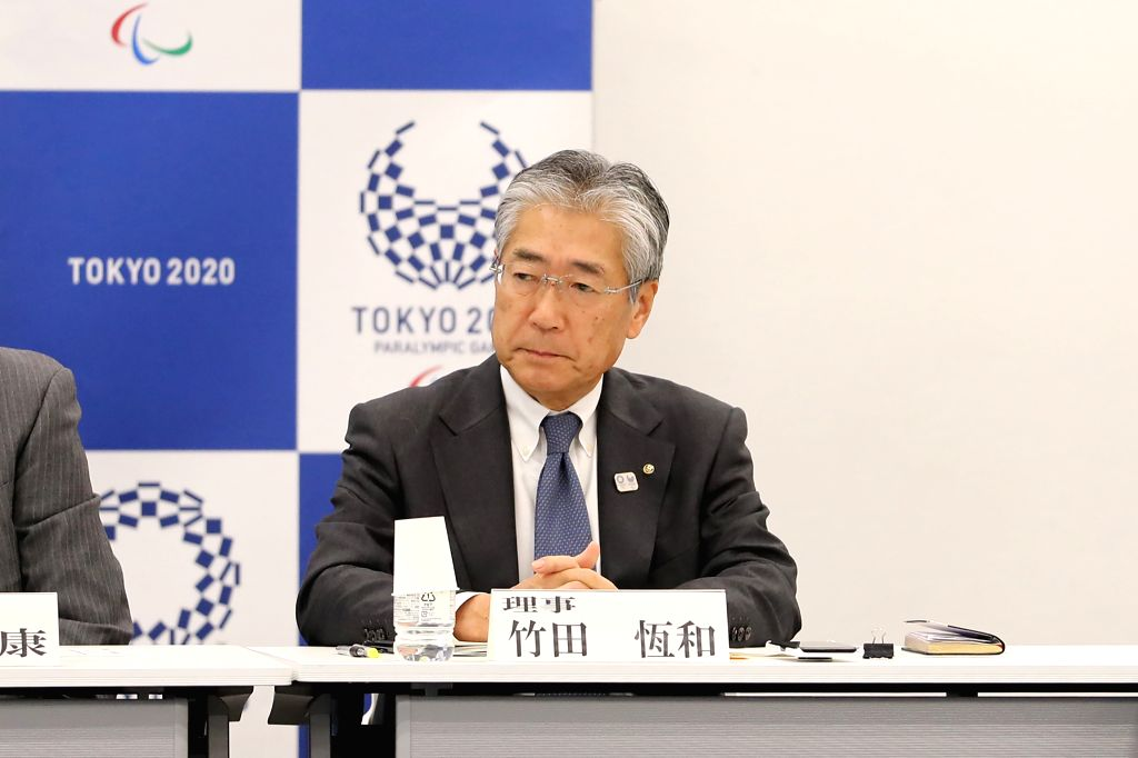 TOKYO, Feb. 15, 2019 - Japan's Olympic Committee President Tsunekazu Takeda attends the 30th executive board meeting as a vice president of the Tokyo 2020 Organizing Committee in Tokyo, Japan, on ...