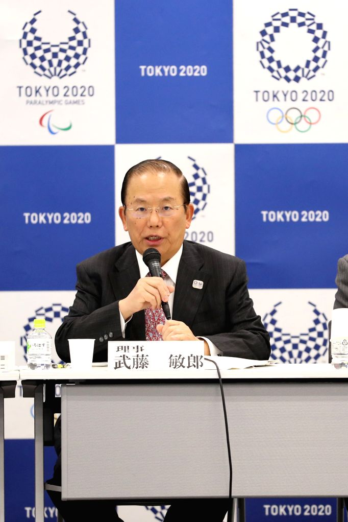 TOKYO, Feb. 15, 2019 - Tokyo 2020 CEO Toshiro Muto speaks during the 30th executive board meeting held by Tokyo Organizing Committee of the Olympic and Paralympic Games in Tokyo, Japan, on Feb. 15, ...