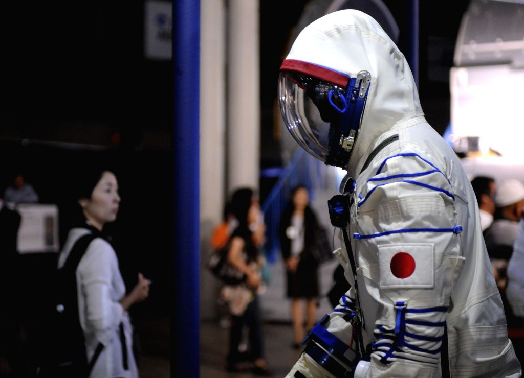 "People visit a press preview of ""SPACE EXPO 2014"" at Makuhari Messe in Chiba prefecture, east of Tokyo, Japan, July 18, 2014. The expostion is opened to the"