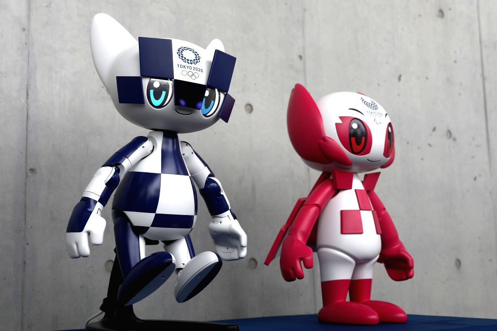 TOKYO, July 22, 2019 - Photo taken on July 22, 2019 shows the Tokyo 2020 mascot robots during the Tokyo 2020 mascot robots unveiling event in Tokyo, Japan. Tokyo 2020 Mascot-type robots will welcome ...