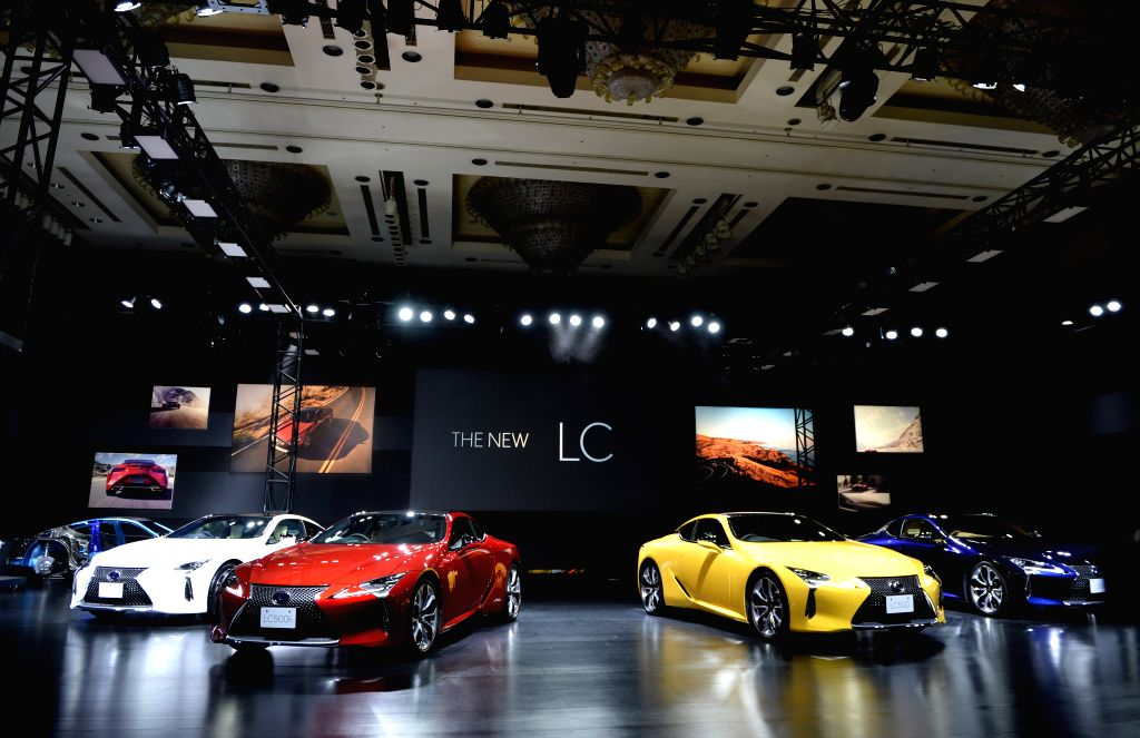 TOKYO, March 16, 2017 - Photo taken on March 16, 2017 shows the new Lexus LC500 in Tokyo, Japan. The new Lexus LC500 officially got on sale in Japan Thursday.
