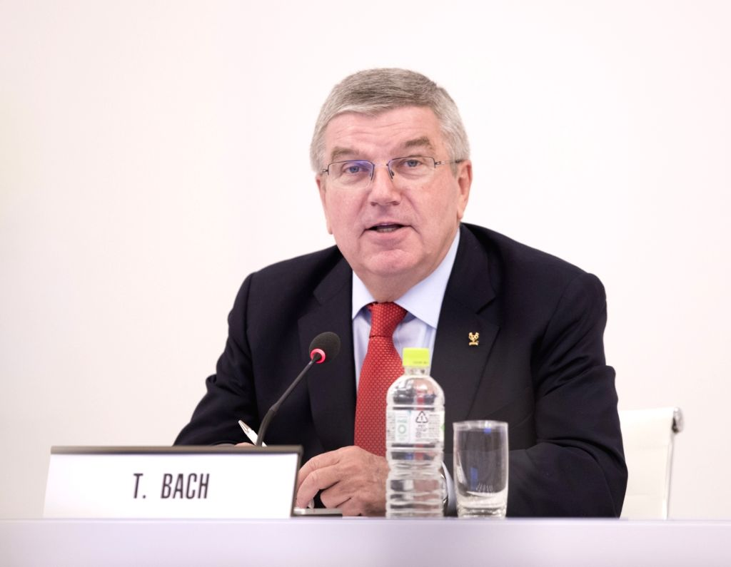 TOKYO, Nov. 30, 2018 - International Olympic Committee (IOC) President Thomas Bach reacts before the IOC executive board meeting in Tokyo, Japan, Nov. 30, 2018. The two-day meeting kicked off on ...