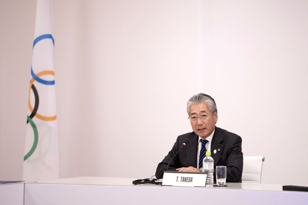 TOKYO, Nov. 30, 2018 - Japan's Olympic Committee President Tsunekazu Takeda reacts before the International Olympic Committee (IOC) executive board meeting in Tokyo, Japan, Nov. 30, 2018. The two-day ...