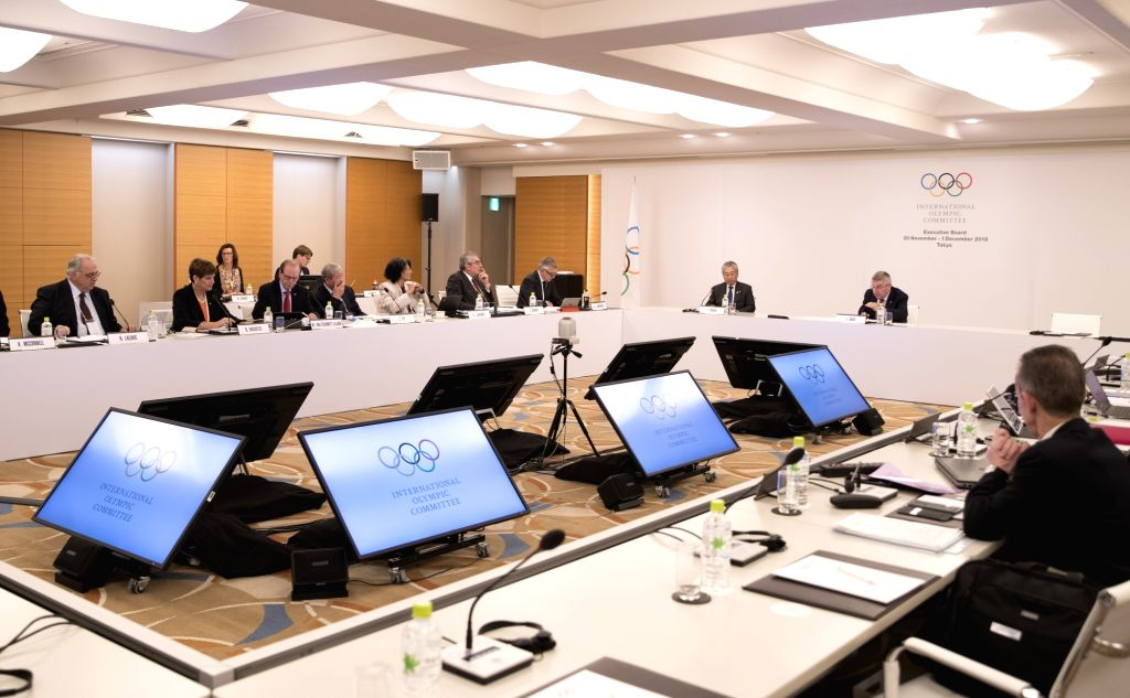 TOKYO, Nov. 30, 2018 - Photo taken on  Nov. 30, 2018 shows the International Olympic Committee (IOC) executive board meeting in Tokyo, Japan. The two-day meeting kicked off on Friday.