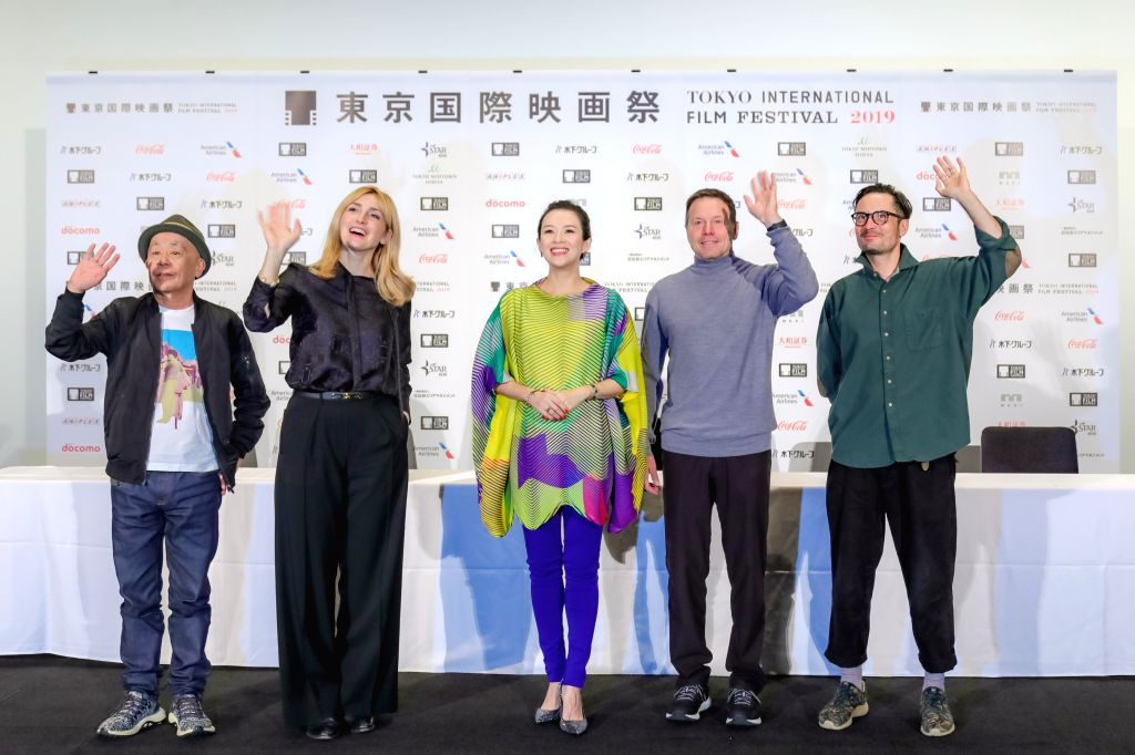 TOKYO, Oct. 29, 2019 - Jury members Ryuichi Hiroki, Julie Gayet, Zhang Ziyi, Bill Gerber, Michael Noer (from L to R) pose for photos at a press conference during the 32nd Tokyo International Film ...
