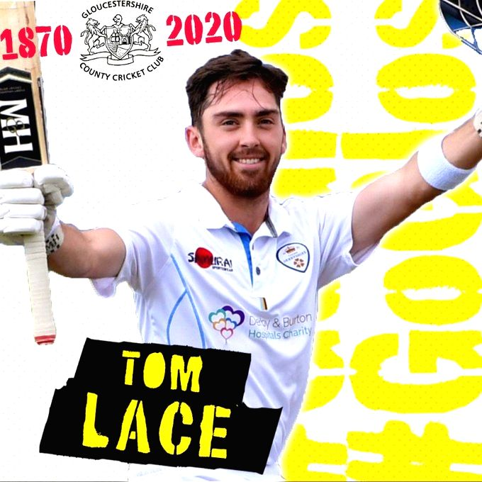 Tom Lace signs three-year deal with Gloucestershire.