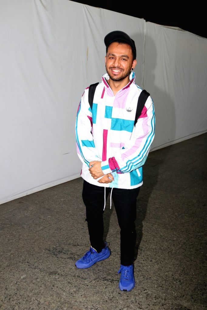 Tony Kakkar Seen at Airport arrival on Jan 18, 2021.