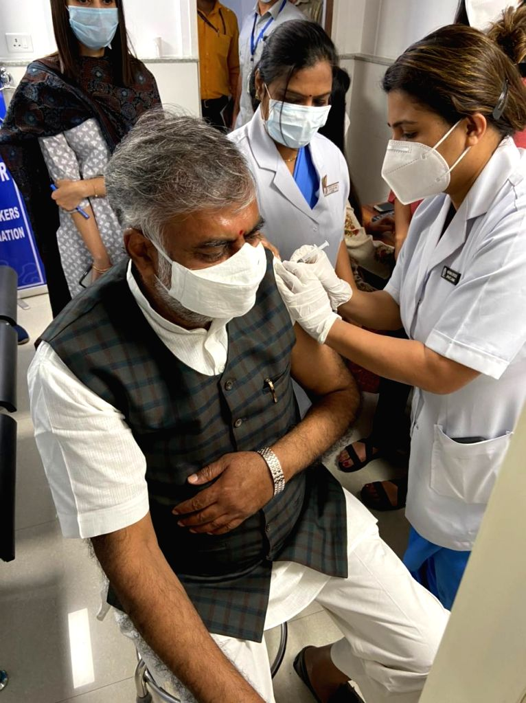 Took first dose of vaccine in AIIMS today: Prahlad Singh Patel. - Prahlad Singh Patel
