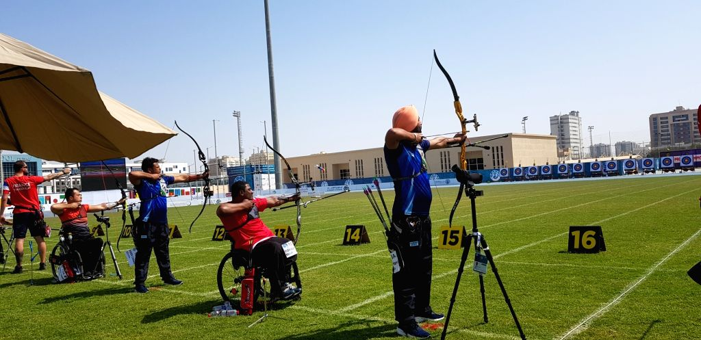 Top Indian archers, including Harvinder Singh and Shyam Sundar Swami, launched their campaigns on a strong note as the 7th Fazza Para Archery World Ranking Tournament got underway with the qualification rounds here on Tuesday. - Harvinder Singh