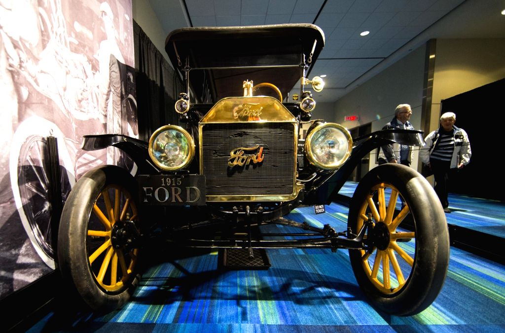 TORONTO, Feb. 21, 2019 - A 1915 Ford Model T Touring is seen during the Art and the Automobile exhibition of the 2019 Canadian International Auto Show (CIAS) at the Metro Toronto Convention Center in ... - T Touring
