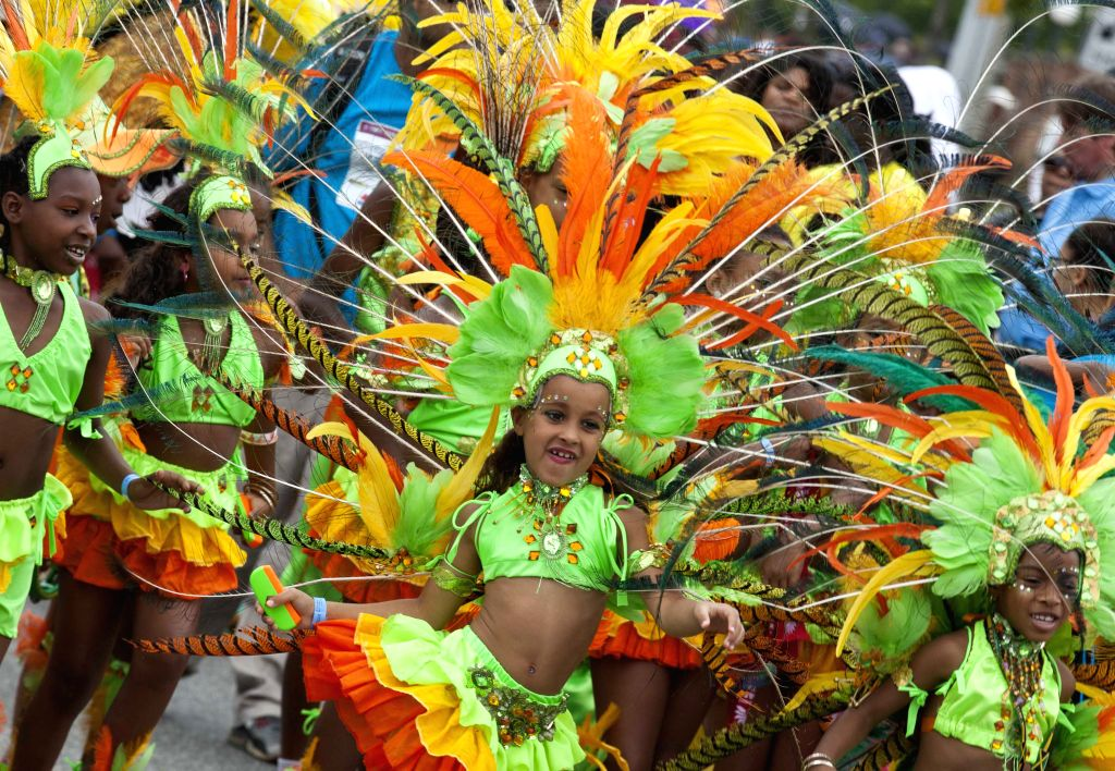 Girls perform during the Junior Parade of the 2014 annual Toronto Caribbean Carnival in Toronto, Canada, July 19, 2014. As the largest Junior Parade of its kind in .