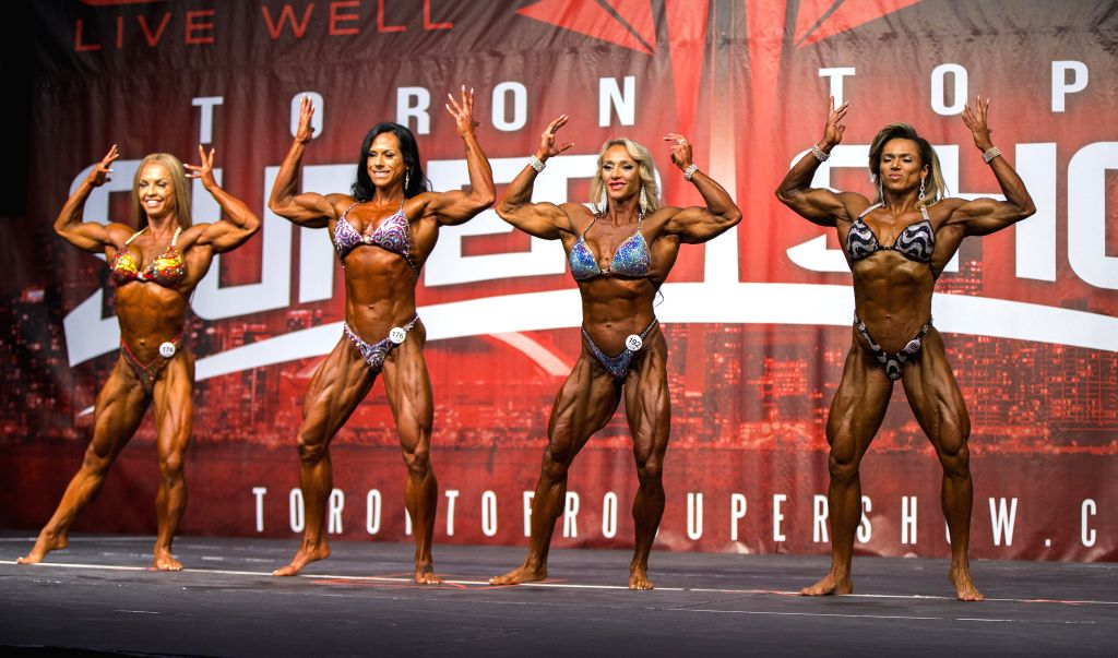TORONTO, June 3, 2019 - Contestants compete during the IFBB Championships of the 2019 Toronto Pro SuperShow & Expo in Toronto, Canada, June 2, 2019.