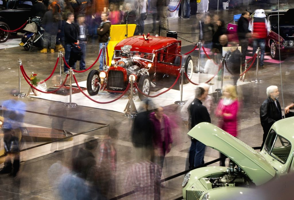 TORONTO, March 10, 2019 - People visit the 2019 Toronto Motorama Custom Car & Motorsports Expo in Toronto, Canada, March 9, 2019. Featuring about 400 custom cars, hot rods, imports and race cars, ...