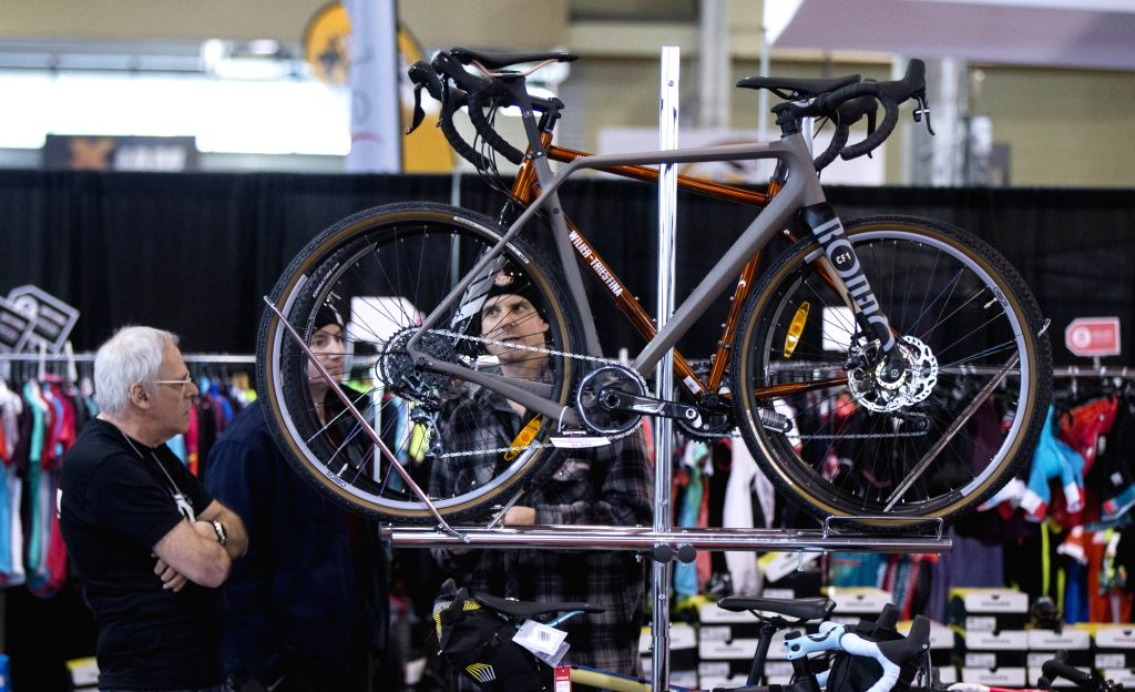 TORONTO, March 3, 2019 - People visit the 2019 Toronto International Bicycle Show in Toronto, Canada, on March 3, 2019. As one of the largest bicycle consumer shows in the world, the annual ...