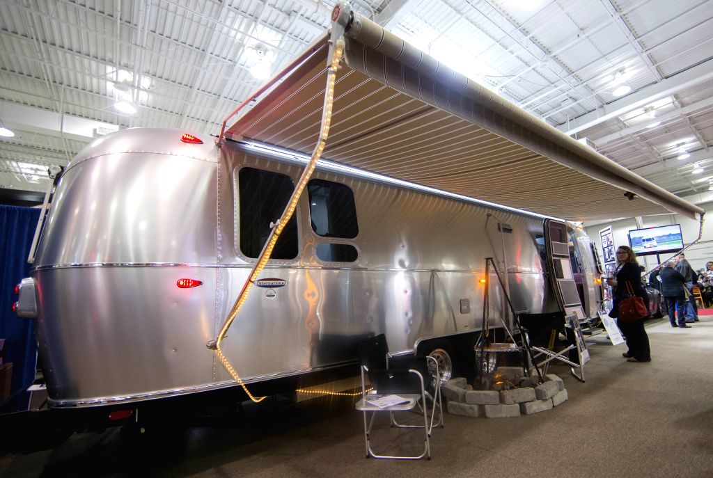 TORONTO, March 5, 2017 - People visit the 2017 Toronto Spring Camping & RV Show in Toronto, Canada, March 4, 2017. The four-day annual event kicked off here on Thursday displaying hundreds of RVs ...