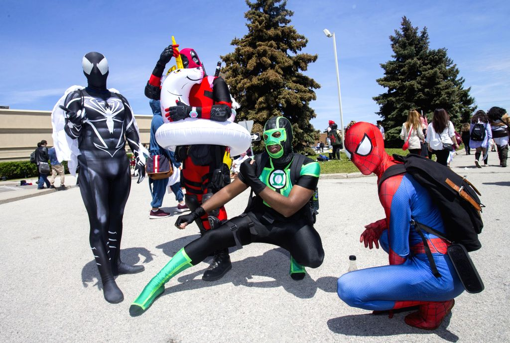 TORONTO, May 28, 2017 - Cosplayers pose for photos during the 2017 Anime North at the Toronto Congress Center in Toronto, Canada, on May 28, 2017. The three-day annual event kicked off on Friday to ...