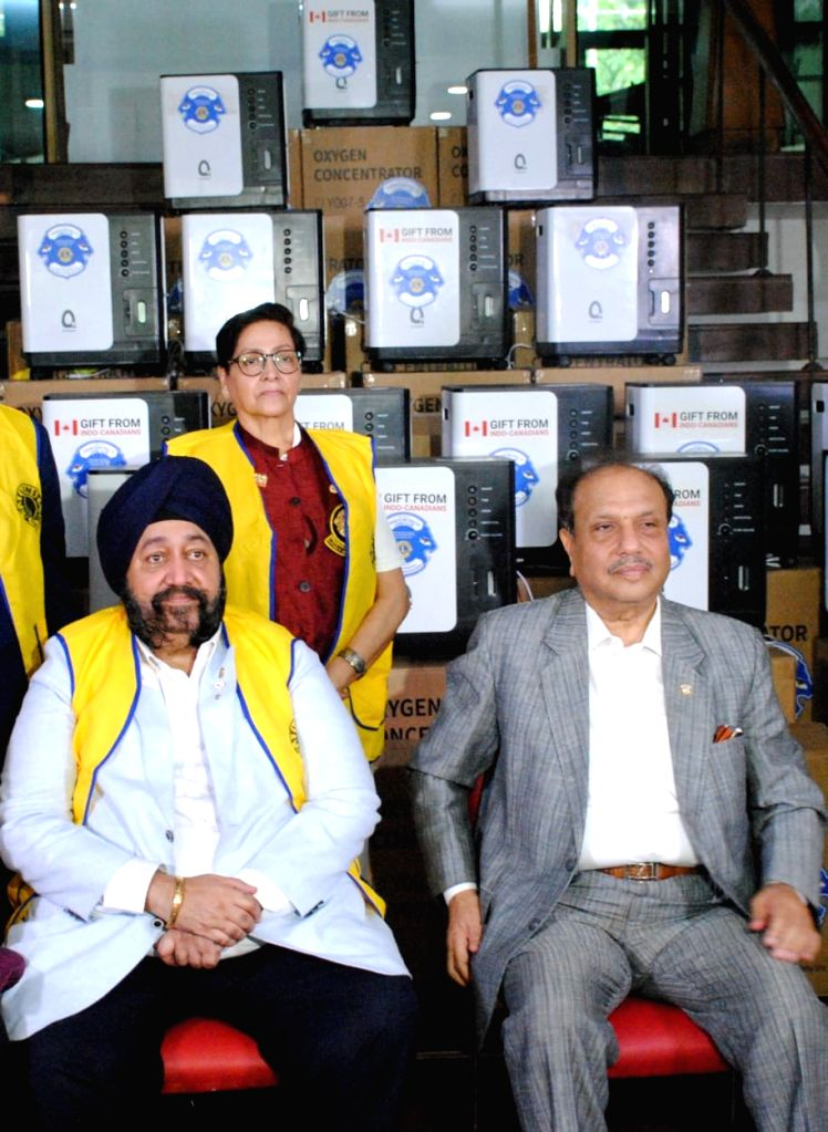 Toronto Nethralaya Lions Clubs has sent Relief Material to Lions Clubs India Relief Material-Oxygen Concentrators received by Past International President Dr Naresh Aggarwal and other ...