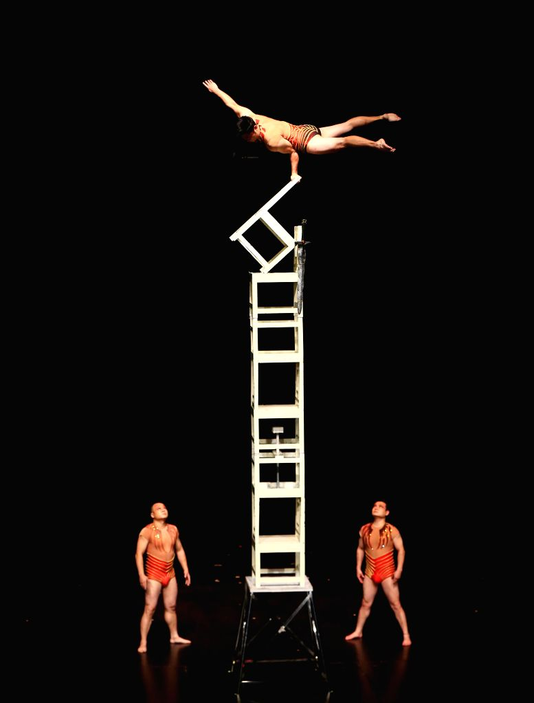 """TORONTO, Nov. 25, 2016 - Acrobats from Chinese Hunan Acrobatic Art Theatre perform during the show """"Journey of Dreams"""" at the Flato Markham Theatre in Toronto, Canada, Nov. 24, 2016. ..."""