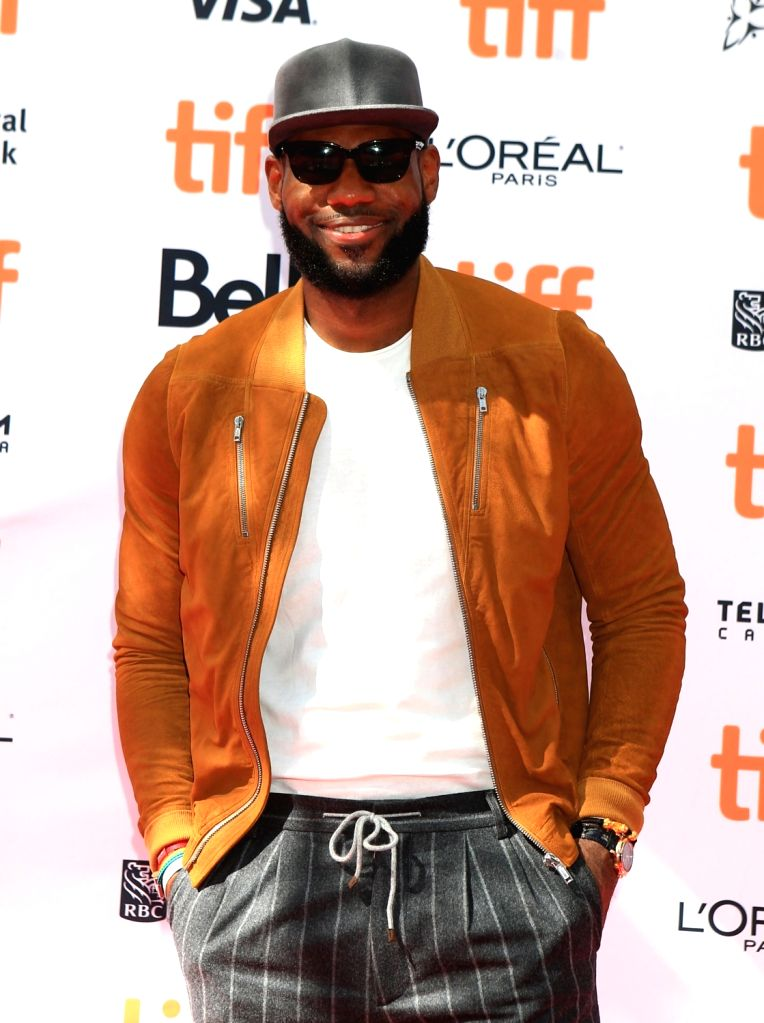 "TORONTO, Sept. 10, 2017 - NBA player LeBron James attends the world premiere of the documentary ""The Carter Effect"" at Princess of Wales Theatre during the 2017 Toronto International Film ..."