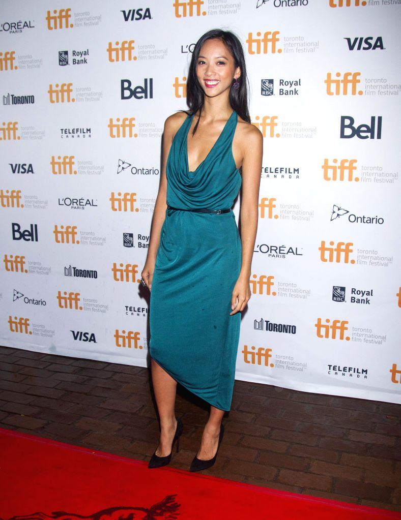 "Actress Shuya Chang poses for photos before the world premiere of the film ""Revenge of The Green Dragons"" at Ryerson Theater during the 39th Toronto ... - Shuya Chang"
