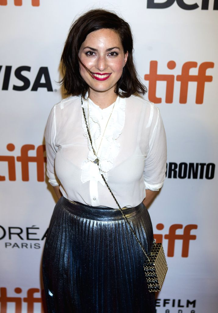 """TORONTO, Sept. 11, 2016 - Director Rebecca Zlotowski poses for photos before the North American premiere of the film """"Planetarium"""" at Roy Thomson Hall during the 41st Toronto International ..."""