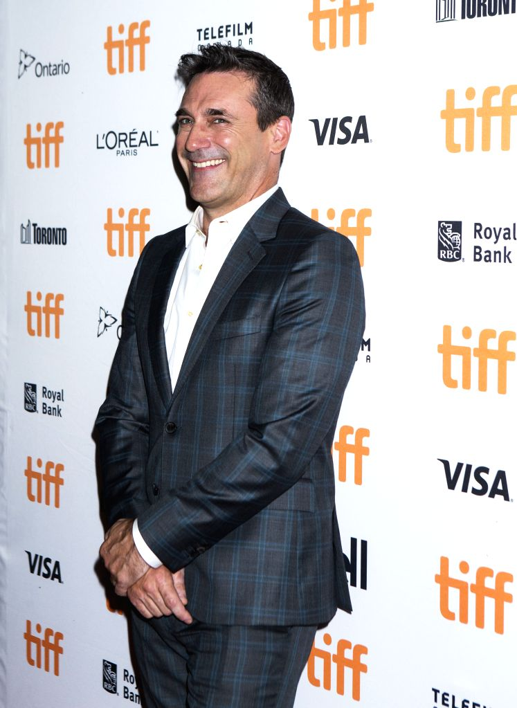 "TORONTO, Sept. 12, 2019 - Actor Jon Hamm poses for photos before the world premiere of the film ""Lucy in the Sky"" at Princess of Wales Theatre during the 2019 Toronto International Film ... - Jon Hamm"