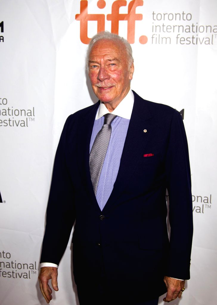 """Actor Christopher Plummer poses for photos before the premiere of the film """"The Forger"""" at Roy Thompson Hall during the 39th Toronto International Film .. - Christopher Plummer"""