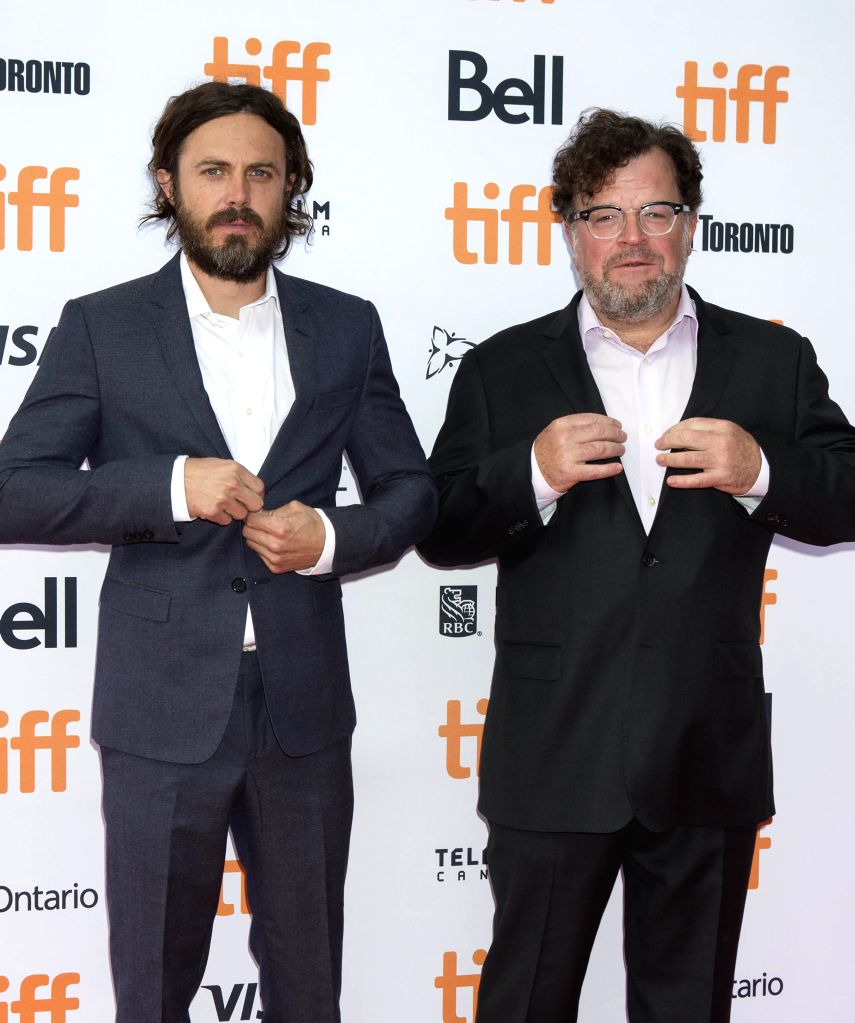 "TORONTO, Sept. 14, 2016 - Actor Casey Affleck (L) and director Kenneth Lonergan pose for photos before the international premiere of the film ""Manchester by the Sea"" at the Princess of ... - Casey Affleck"