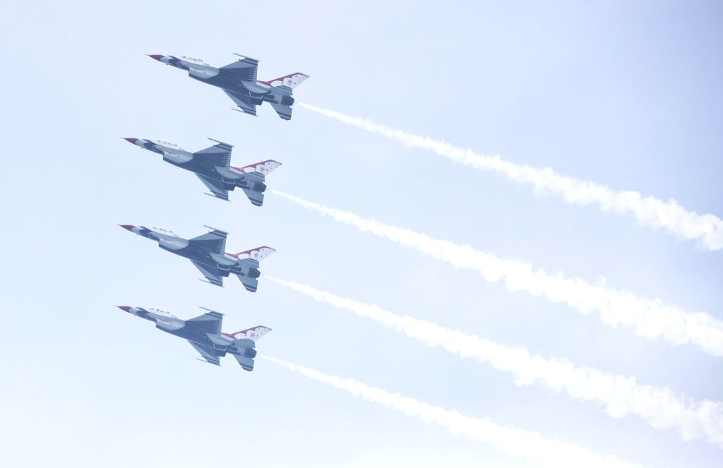TORONTO, Sept. 2, 2018 - The United States Air Force Thunderbirds perform during the 2018 Canadian International Air Show in Toronto, Canada, Sept. 1, 2018. The annual three-day event kicked off on ...