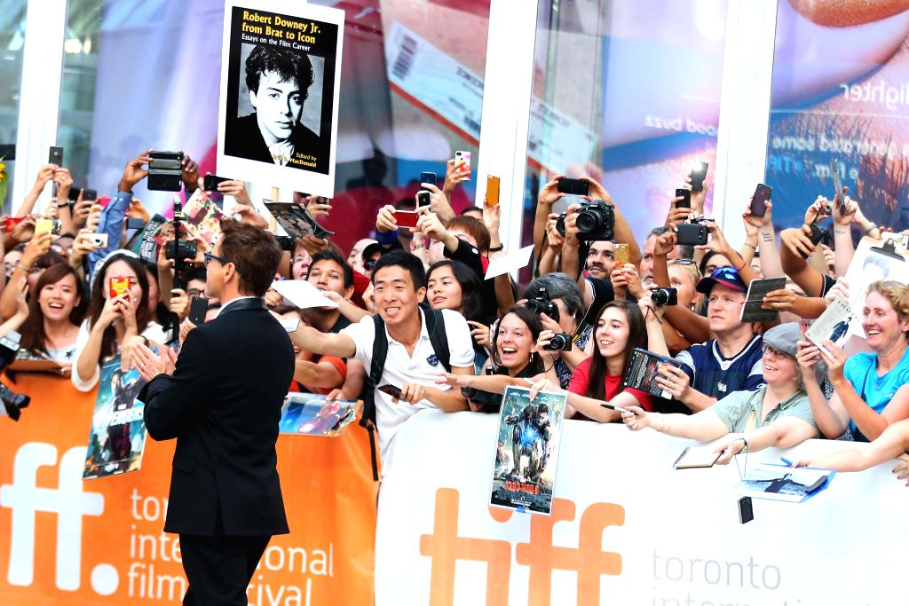 "Actor Robert Downey Jr. arrives for the premiere of the opening film ""The Judge"" at Roy Thomson Hall during the 39th Toronto International Film Festival .. - Robert Downey J"