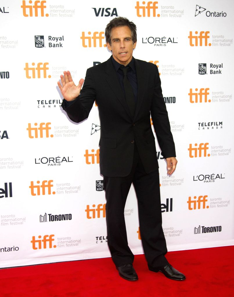 "Actor Ben Stiller poses for photos before the premiere of the film ""While We're Young"" at Princess of Wales Theatre during the 39th Toronto International . - Ben Stiller"