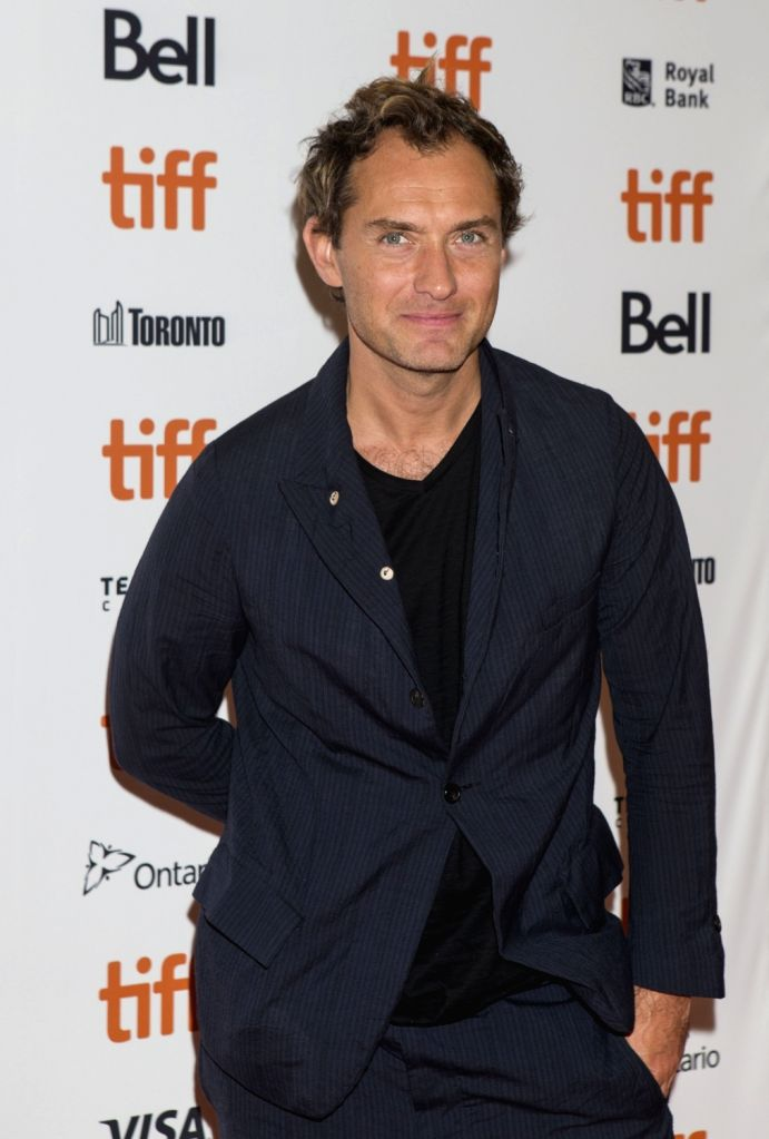 """TORONTO, Sept. 7, 2018 - Actor Jude Law poses for photos at the American premiere of the film """"Vox Lux"""" at Princess of Wales Theatre during the 2018 Toronto International Film Festival in ... - Jude Law"""