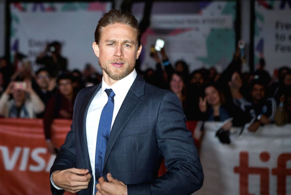 """TORONTO, Sept. 8, 2017 (Xinhua) -- Actor Charlie Hunnam attends the premiere of the film """"Papillon"""" during the 2017 Toronto International Film Festival in Toronto, Canada, Sept. 7, 2017. The 2017 Toronto International Film Festival (TIFF) kicked off  - Charlie Hunnam"""