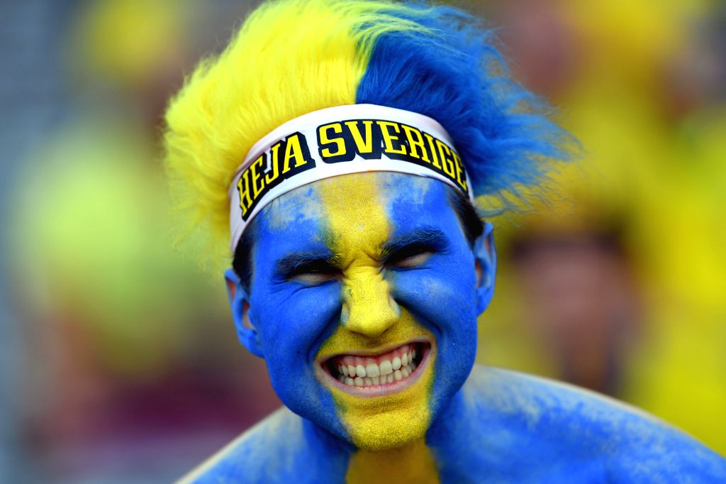 TOULOUSE, June 17, 2016 - A fan waits for the start of the UEFA Euro 2016 group E match between Italy and Sweden at the Stadium Municipal in Toulouse, France, June 17, 2016.