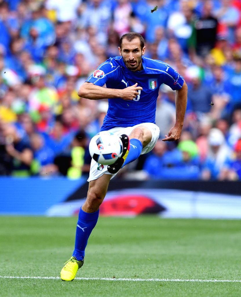 TOULOUSE, June 17, 2016 - Italy's Giorgio Chiellini competes during the UEFA Euro 2016 group E match between Italy and Sweden at the Stadium Municipal in Toulouse, France, June 17, 2016.