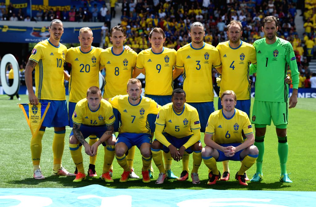 TOULOUSE, June 17, 2016 - Start players of Sweden pose before the UEFA Euro 2016 group E match between Italy and Sweden at the Stadium Municipal in Toulouse, France, June 17, 2016.