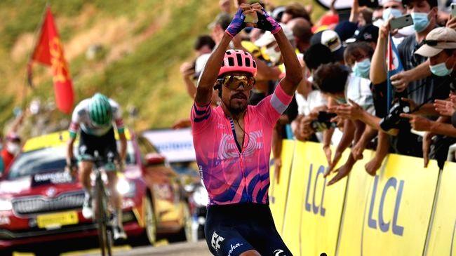 Tour de France: Martinez wins Stage 13, Roglic strengthens grip on yellow jersey.