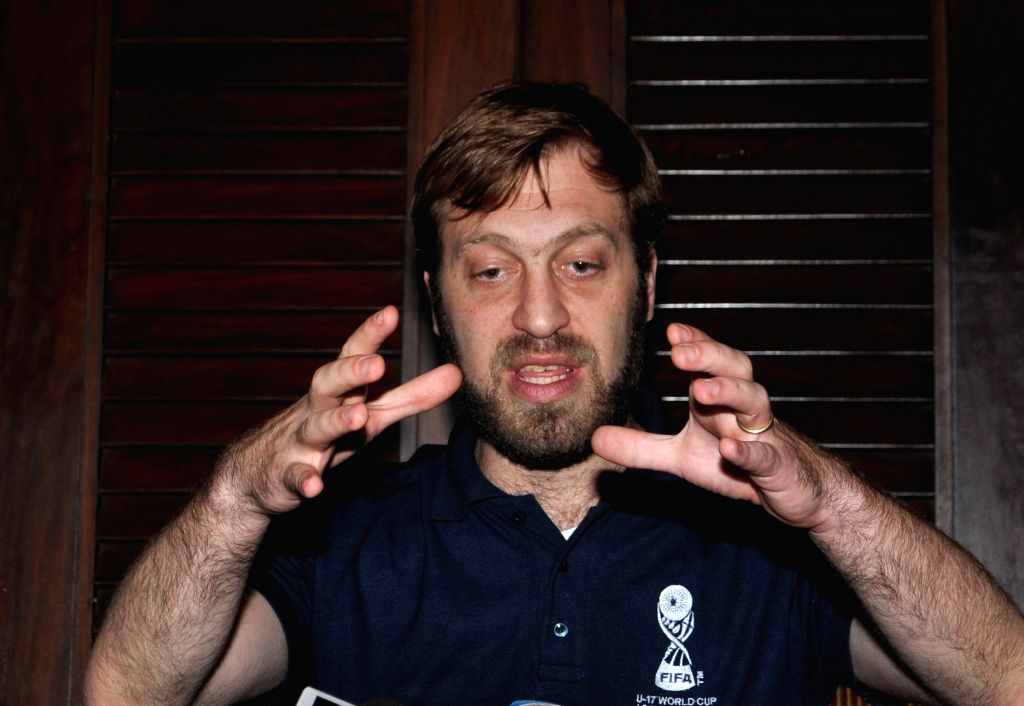 Tournament Director of FIFA U-17 World Cup, Javier Ceppi addresses a press conference in Kolkata, on May 14, 2017.