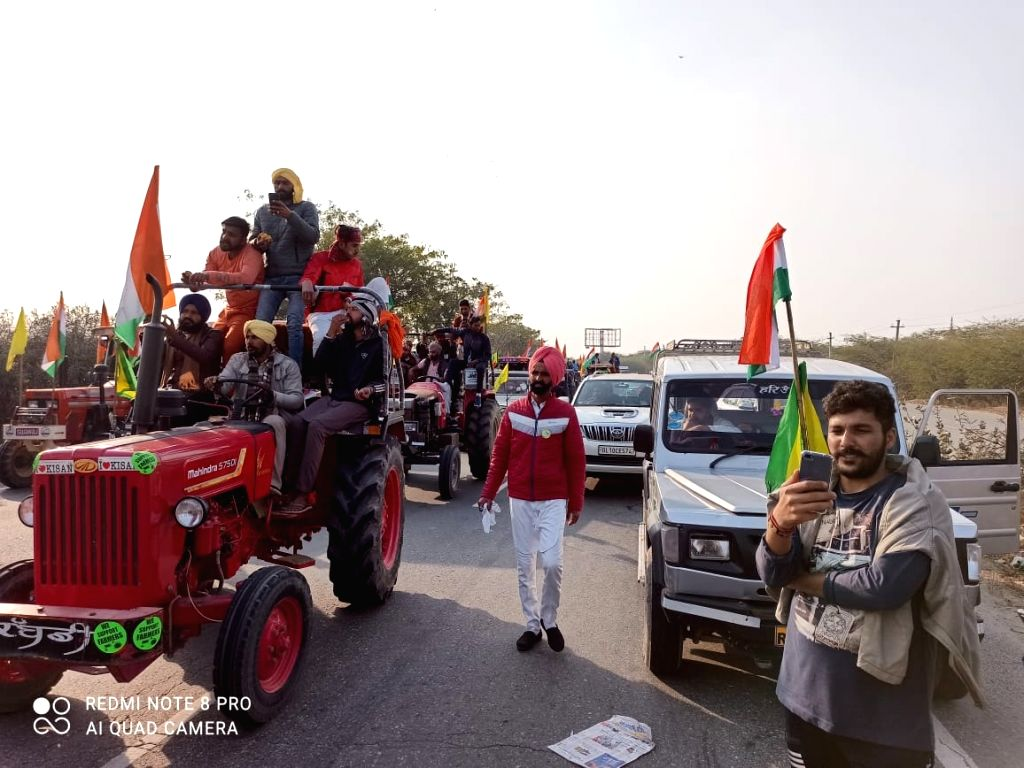 Tractor rally passes off peacefully in Gurugram (Ld).