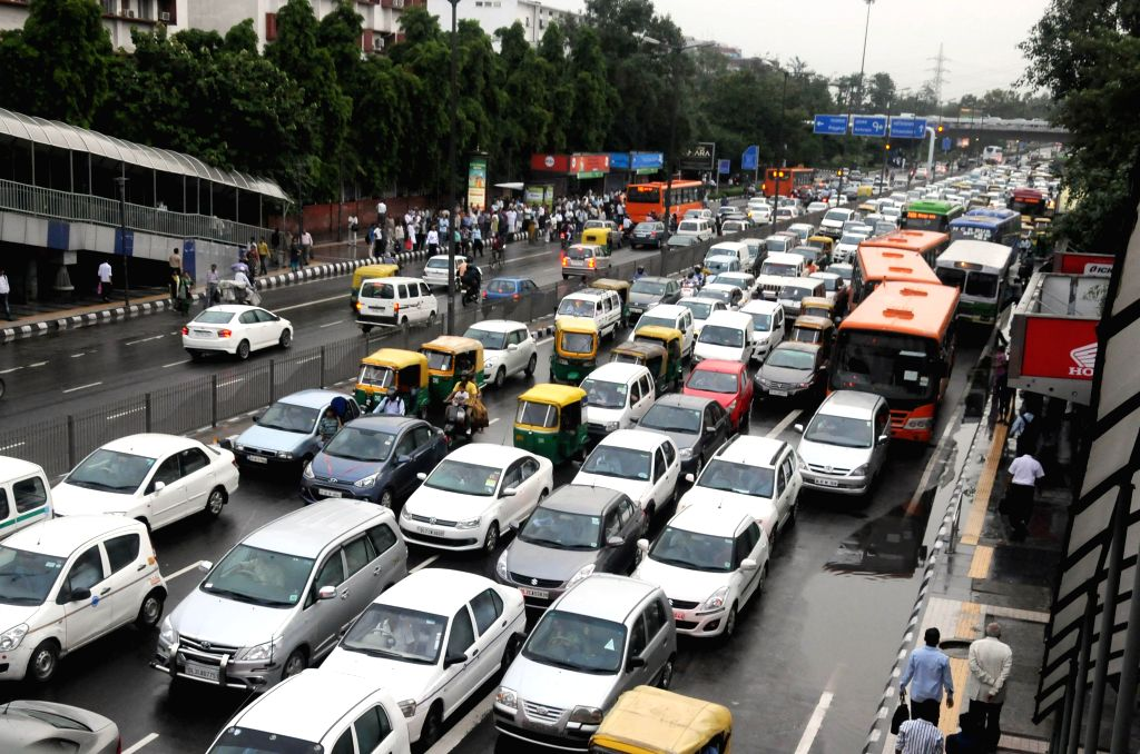 Traffic jam at ITO of New Delhi on Sept 3, 2014.