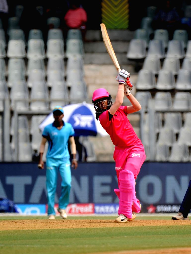 Trailblazers' Jemimah Rodrigues in action during Women's T20 Challenge Match 2018 between Trailblazers and Supernovas at Wankhede Stadium in Mumbai on May 22, 2018.