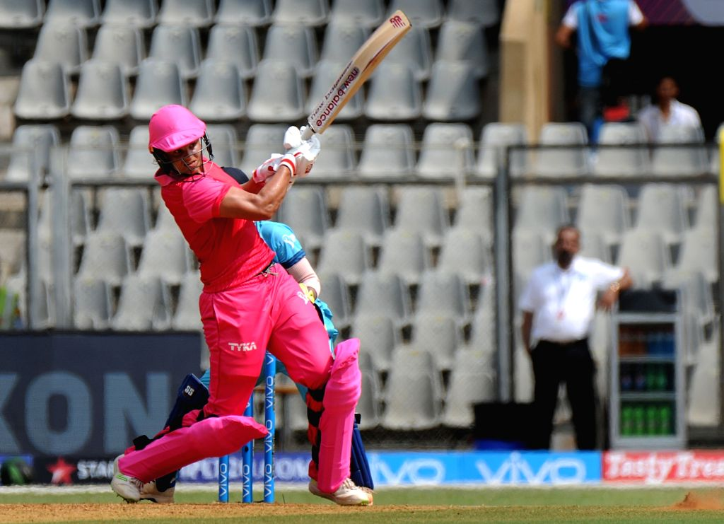 Trailblazers' Suzie Bates in action during Women's T20 Challenge Match 2018 between Trailblazers and Supernovas at Wankhede Stadium in Mumbai on May 22, 2018.