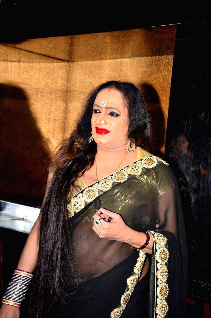 Transgender activist Laxmi Narayan Tripathi during the muhurat of hindi film Upeksha in Mumbai on March 14, 2016. - Laxmi Narayan Tripathi
