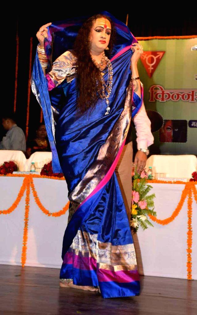 """Transgender activist Laxmi Narayan Tripathi during inauguration of """"Kinnar Mahotsav"""" in Patna, on June 23, 2017. - Laxmi Narayan Tripathi"""