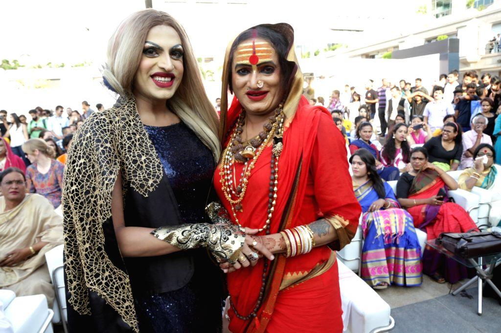 "Transgender activist Laxmi Narayan Tripathi at the ""7th Hijra Habba"" programme, in New Delhi on Sept 11, 2018. - Laxmi Narayan Tripathi"