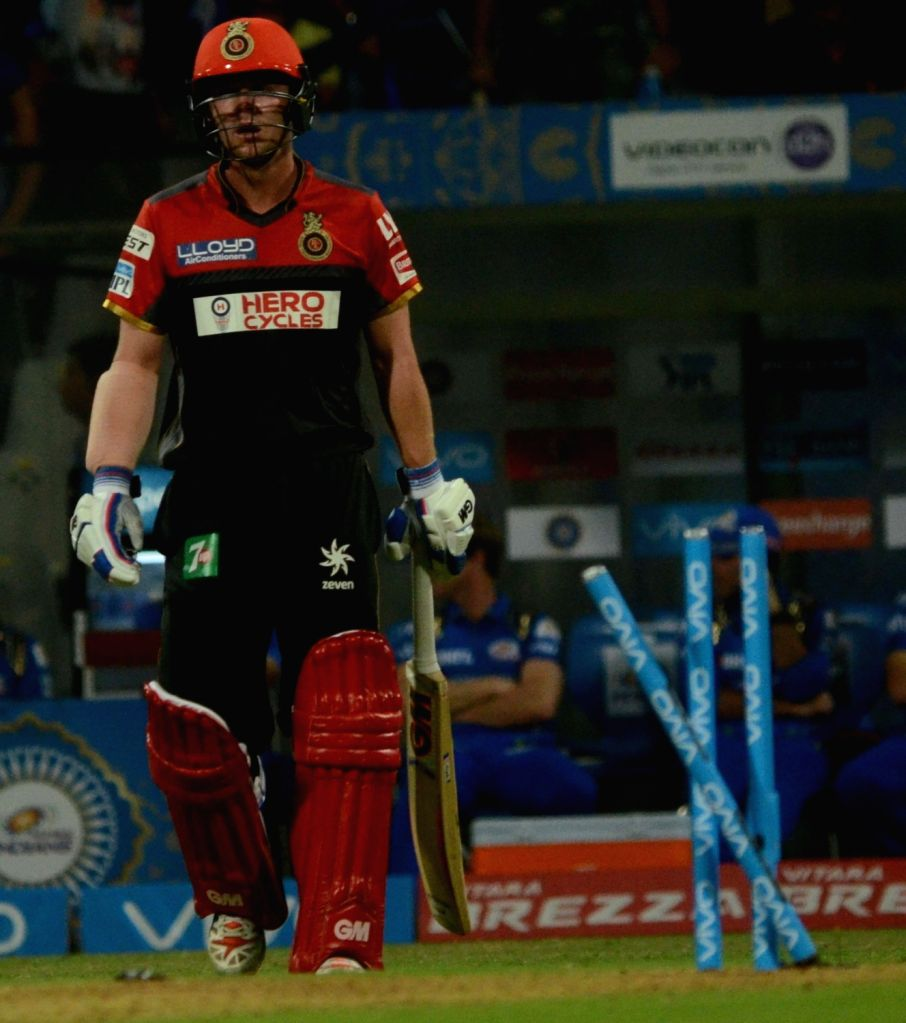 Travis Head of of Royal Challengers Bangalore during IPL match between  Mumbai Indians and Royal Challengers Bangalore at Wankhede Stadium in Mumbai on April 20, 2016.