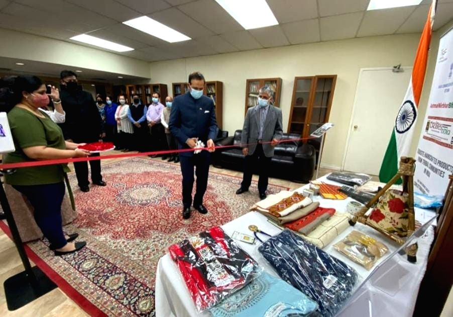 Tribal art corner opened at Indian High Commission in Canada to mark Gandhi Jayanti