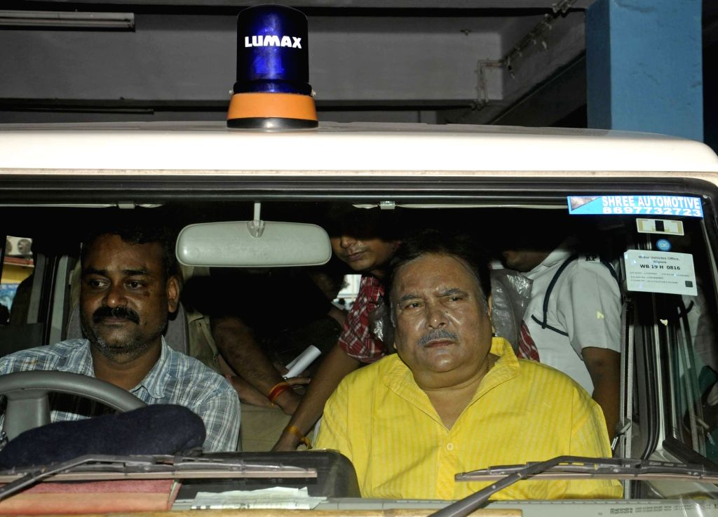 Trinamool Congress leader Madan Mitra being taken to jail from SSKM hospital where he was being treated in Kolkata, on June 19, 2016.